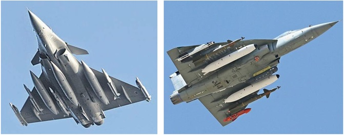 Rafale And LCA Tejas
