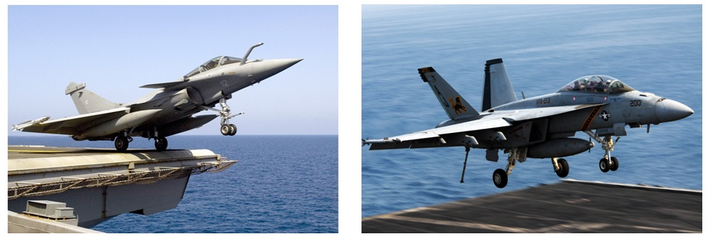Indian Aircraft Carrier - Rafale And F-18