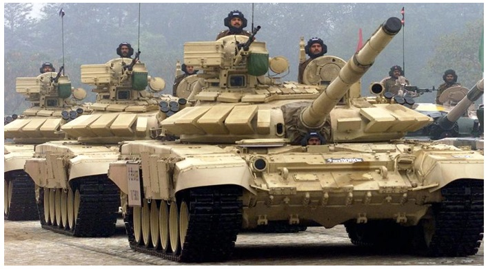 Indian Army Tanks T-90 Bhishma