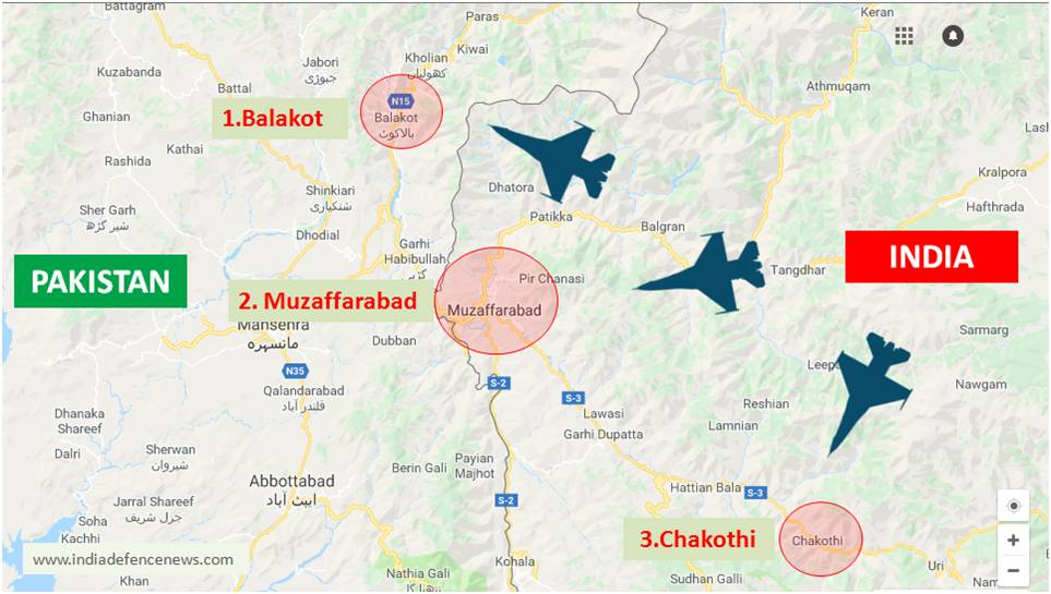 Indian Air Force Attacks Three Terrorist Camps In Pakistan