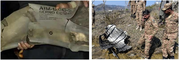 Wreckage Of Pakistani F 16 Shot Down By Indian Mig 21